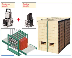 Z-20 modular strapping system for brick packaging